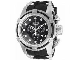 Invicta Men's 12665 Rare Bolt Swiss Reserve Chrono Black Dial Black LeatherWatch - $435.00