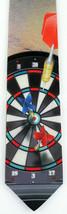 Darts Mens Necktie Dartboard Dart Flight Pub Game Sports Marlin Gift Tie New - $24.75