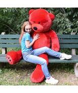 "WOWMAX Unique Red Teddy Bear 72"" Giant Jumbo Stuffed Plush Animal Toy Gi... - $89.99"