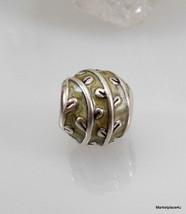 Authentic Pandora 925 ALE Sterling Silver VINES BEIGE Enamel Charm #7905... - $14.46