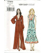 Very Easy Vogue Low Cut V Dress Bodice Pattern VP970 All Misses Sizes 6-... - $8.90
