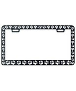 BLACK PAW PRINTS CRITTER DOG PET CAT License Plate Frame - £4.31 GBP