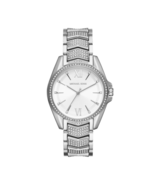 BRAND NEW MICHAEL KORS MK6687 SILVER STAINLESS STEEL PAVE ROMAN WOMEN'S ... - £136.27 GBP