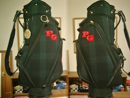 Rare Pearly Gates Black Watch Tartan Pattern Synthetic Green Red Golf Bag - $1,038.08 CAD