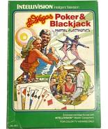 Mattel Intellivision Las Vegas Poker & Blackjack Game, with box, 1979, N... - $9.99