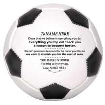 Personalized Mini Soccer Ball To Our Daughter, Son, Granddaughter, Grandson - $34.95
