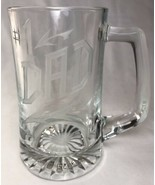 Etched Clear Glass Beer Mug #1 Dad - $5.87