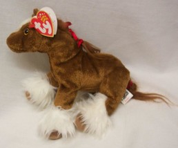 "TY Beanie Baby HOOFER THE CLYDESDALE HORSE 8"" Plush STUFFED ANIMAL Toy NEW - $16.34"