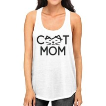 Cat Mom Women's White Cute Design Cotton Tanks Gifts For Cat Lovers - $14.99
