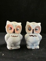 Owls - 1950's Shawnee Pottery Winking Owls Salt And Pepper Shakers Vintage - $14.36