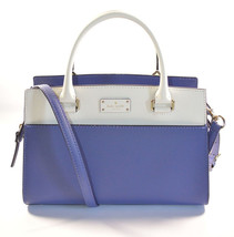 NWT Kate Spade Small Caley Blue/White Leather satchel + 25% off your nex... - $128.99