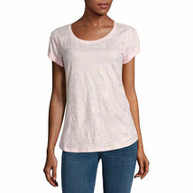 a.n.a. Women's Boyfriend T Shirt Hampton Pink Gold Print Size X-Large NEW - $14.25