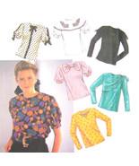 Vintage Simplicity Sewing Pattern 9923 Misses Blouse Long Short Sleeve 6... - $6.95
