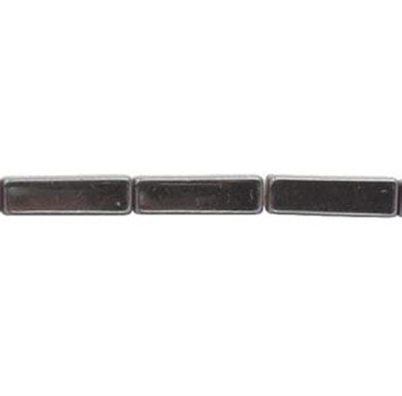 4mm x 13mm Hematite Rectangular Tube Beads 30 image 2