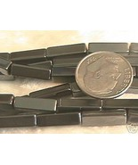4mm x 13mm Hematite Rectangular Tube Beads 30 - $3.25