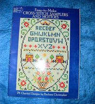 Easy To Make Cross Stitch Samplers and Mottoes  - $5.50