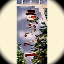 Snowman Jingle Bell Mobile metal Christmas winter home decor Primitive C... - $12.98