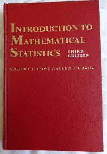 Primary image for Introduction To Mathematical Statistics 3RD Edition [Hardcover] [Jan 01, 1970] H