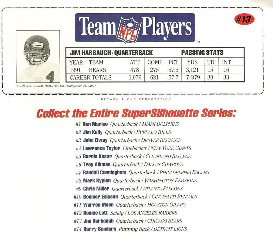 nfl superstars fat head supersilhouette jim harbaugh chicago bears