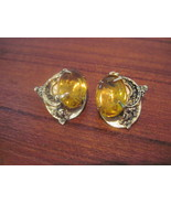 Vintage Faux Topaz Clip Earrings - $18.00