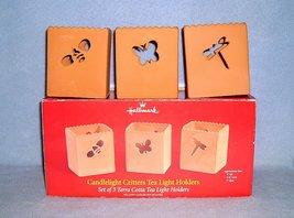 Hallmark Candlelight Critters 3 Tealight Candle Holders 2004 Terra Cotta NIB - $9.99