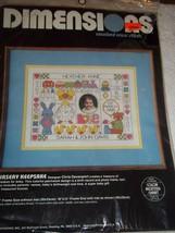 """Bnip 1984 Dimensions Cross Stitch Kit 12""""x9"""" Baby Keepsakes Birth Record #3576 - $17.81"""