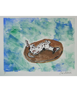 Greyhound Art Monotype Hand Pulled Print Solomon - $60.00