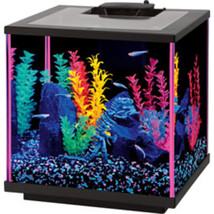 Aqueon Pink Aqueon Neoglow Aquarium Kit Cube 7.5 Gallon - $106.93