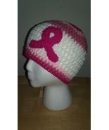 Breast Cancer Pink Ribbon Awareness Handmade Crochet Hat - $18.00