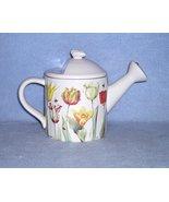 Hallmark Marjolein Bastin Natures Sketchbook Teapot Embossed Tulips Wate... - $14.99