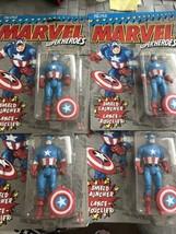 Lot of 4 Marvel  CAPTAIN AMERICA Action Figure MOC NEW 1990 w/ Sheild La... - $64.34