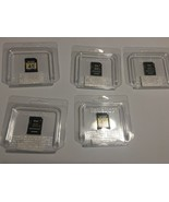 Lot of 5  4GB SD Memory Cards Toshiba Lexar Camera Video - $24.74