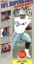 nfl superstars fat head supersilhouette barry sanders detroit lions - $11.99
