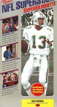 nfl superstars fat head supersilhouette dan marion miami dolphins - $11.99