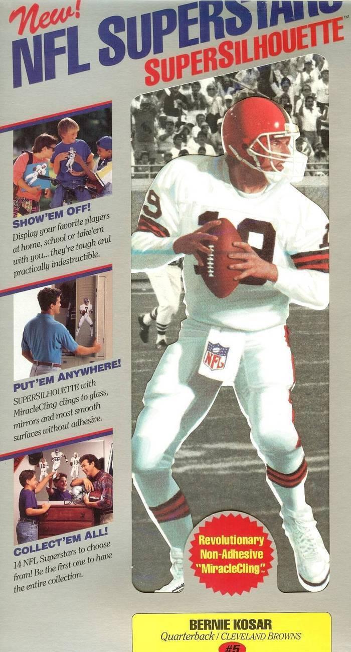 nfl superstars fat head supersilhouette bernie kosar cleveland browns
