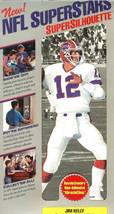 nfl superstars fat head supersilhouette jim kelly buffalo bills - $11.99