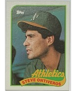 1989 TOPPS #692 Steve Ontiveros Oakland Athletics Baseball Card - $2.93