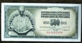 Yugoslavia 500 dinars with Nikola Tesla 1981 UNC - $2.97