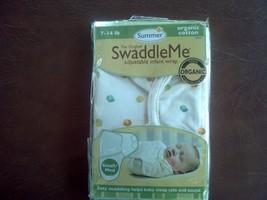 New summer swaddle me adjustable infant wrap 7-14 lb 100% organic cotton... - $8.91