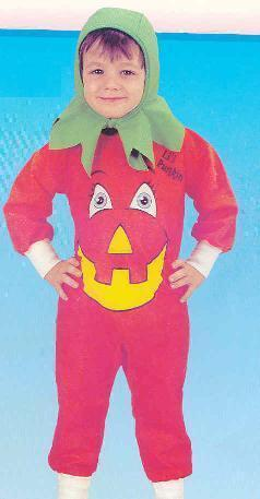 PUMPKIN Suit with Hood Childs Size 1/2 Costume Bonanza