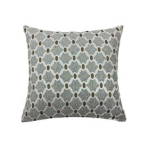 "2 X Filled MOROCCAN-STYLE Chain Link Silver Chenille Woven 22"" - 55CM Cushions - $40.61"