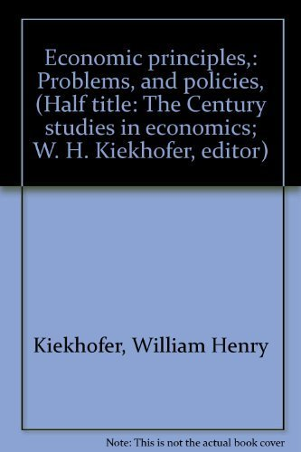 Economic Principles,: Problems, and Policies, (Half title: The Century Studies