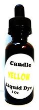 Liquid Candle Dye (Yellow) - 1oz Glass Dropper Bottle with Childproof Li... - $9.87