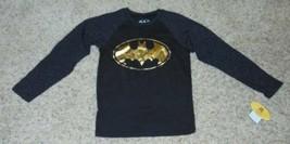 NWT-Girls Justice League Super Hero Black Batman Raglan Long Sleeve Shirt-size 8 - $13.86