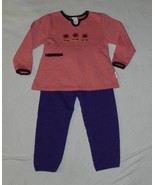 Healthtex Salmon and Purple Size 4 Top and Pants Set - $11.99