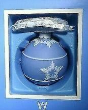 NIB WEDGWOOD BLUE JASPERWARE ICON BALL CHRISTMAS ORNAMENT - $72.26