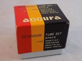 ACCURA EXTENSION TUBE SET 3 Piece New Old Stock for Pentax, Praktica - $6.92