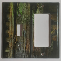 Color Barn Wood Light Switch Outlet Toggle Rocker Wall Cover Plate Home Decor image 9