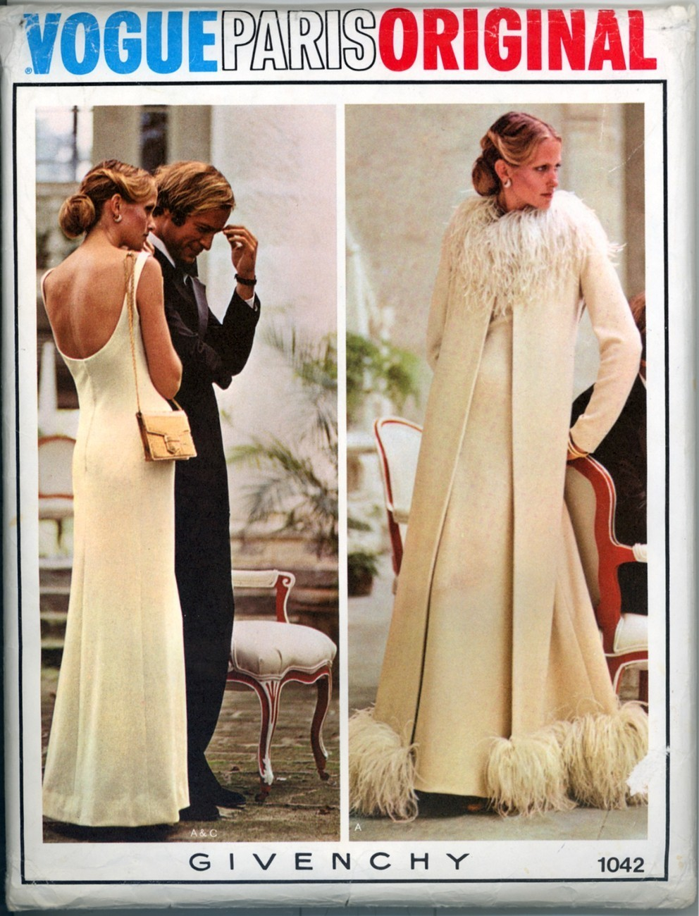 Vtg 70's Vogue Paris Original Givenchy Evening Gown 12 New