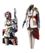 High Quality Final Fantasy XIII Lightning Cosplay Unifrom Suit Women Girl Hallow - $113.95
